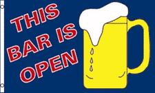 3'x5' THIS BAR IS OPEN BEER FLAG BANNER PARTY FUN ALCOHOL DRAFT BREW DRINKS 3X5