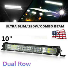 10inch Slim LED Work Light Bar 180W Combo Spot Flood Driving Off Road SUV ATV US