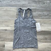 Lululemon Swiftly Tech Racerback Tank Top Women's Size 4 Slate/White NWT