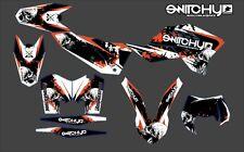 KIT ADESIVI GRAFICHE SKULLZ per moto EXC F 250 450 2008 2009 2010 2011 DECALS