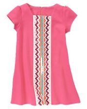 Gymboree Wild For Horses Pink Chevron Sequin Ponte Dress Girls 10 NEW NWT
