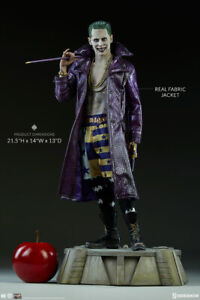 SIDESHOW THE JOKER  SUICIDE SQUAD PF EXCL.  NEW IN FACTORY SEALED SHIPPER BOX
