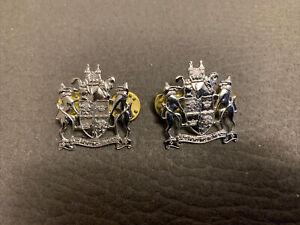 Obsolete Set of Nottinghamshire Constabulary Collar badges.