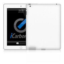 iCarbons PELLICOLA CARBON FIBER WHITE PER IPAD 2-3-4 FRONTE RETRO 3M ADESIVO