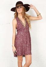 Alice+Olivia Violet Sequin Halter Dress  M 6 8 US