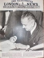 Photo article President Lyndon B Johnson signs Civil Rights Act 1964 USA