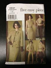 Uncut Vogue V8124 Sewing Pattern, Misses Petite Jacket/Top/Dress, 20-22-24, 8137
