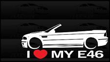 I Heart My E46 Sticker Decal Love BMW M3 Slammed Euro Germany Vert