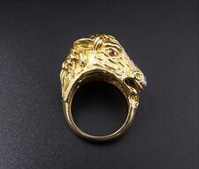 Pierino Frascarolo 18k Yellow Gold Diamond Horse Statement Ring Size 7 RG1485