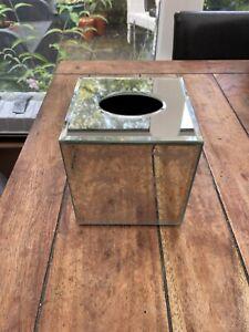 Laura Ashley Square Mirror Tissue Box Cover With Josette Filigree Pattern