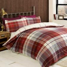 """Lewis"" Red Tartan Check, Single Duvet set ""Finest Homeware"" by Rapport"