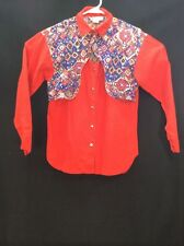 Western Shirt Blouse Womans Rocking M Brand Button Front Medium M Long Sleeve