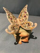 Lenox Giftware ~~ Jeweled ~~ Butterfly ~~ sitting on Leaf ~~