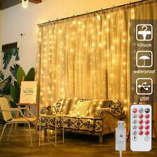 9.8*9.8ft 300 LED Curtain Fairy Hanging String Lights Xmas Wedding Party/100 LED