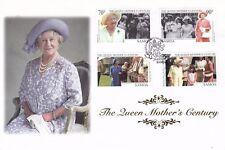 SAMOA 24 AUGUST 1999 QUEEN MOTHER CENTENARY SET MERCURY SILK FIRST DAY COVER SHS