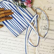 1y FRENCH SAILOR BLUE DOLL DRESS EDGING PIPING TRIM Antique VTG Jumeau Fashion