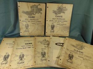 7 CASE farm equipment catalogs 1960's grain combine row corn heads Model G A 800