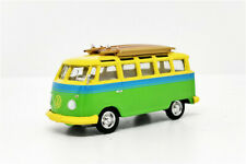 Greenlight 1:64 1964 VW Samba Bus w/roof surfboard Diecast Model Car Loose