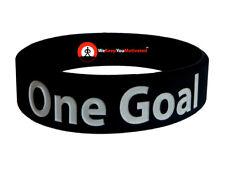 ONE GOAL (BLACK) Wristband Motivational Inspirational Ionic Tourmaline Neg Ion