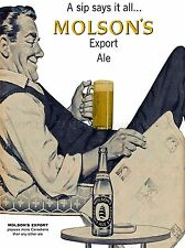 ADVERT DRINK ALCOHOL EXPORT ALE BEER GLASS CANADA ART POSTER PRINT LV136