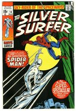 Silver Surfer #14 (1970) VF+ New Marvel Collection Spider-Man appearance