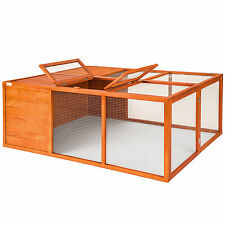 Foldable rabbit enclosure XXL hare pet cage large stall playpen hutch free run
