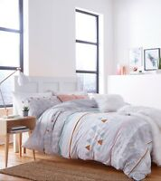 Catherine Lansfield Marble Multi Reversible Duvet Cover Set and Accessories
