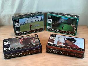 "Tiger Woods Career ""GRAND SLAM"" Nike Collector's Series Golf Balls 4 Tin Set"