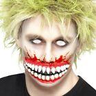 Vestito Per Halloween Latex Grande Bocca Sfregio Effetto Make Up by Smiffys