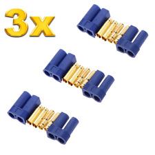 3 Paar 6 Stück EC5 5mm Hochstromstecker Stecker + Buchse Goldstecker bis 120A RC