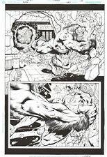 FLASH VS GORILLA GRODD HALF- SPLASH by HOWARD PORTER Original Comic Art 223