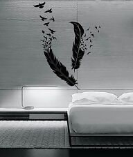 Wall Sticker Birds Flying of Feather Beautiful Cool Decor for your Bedroom z1379