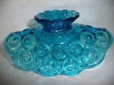 Collectible Vintage L E Smith Colonial Blue Moon & Stars Glass Basket ~ Bowl