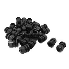30 Pcs PG13.5 Black Plastic 6mm to 12mm Dia Cable Glands Fastening Connector