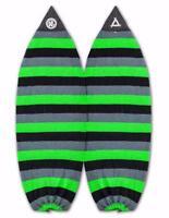 "New Triple X 5' 0"" Wakesurf/Shortboard Surfboard Sock/Green/Grey/Black"