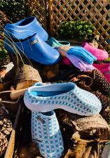 Ladies Original Town & Country Eva Cloggies - Blue & White - Uk4s To UK8s BNWT