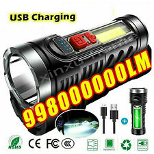 Super Bright 10000000LM Torch Led Flashlight USB Rechargeable Tactical light US