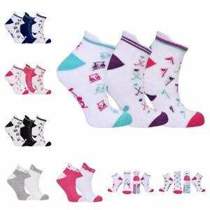 2021 Surprizeshop 3 Pairs of Ladies Golf Socks. Pink, Navy, Black, Multicolour.
