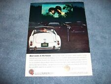 """1961 MGA 1600 Vintage Color Ad """"Best Seats in the House"""""""