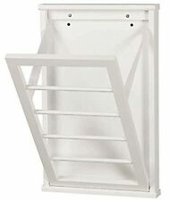 "Wall Mounted Clothes Drying Rack For Laundry Room - Small - White - 14"" x22"""