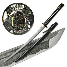 Folded Steel Samurai Sword - 1000+ Layers Battle Ready Ronin Katana