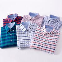 Plaids & Checks New Mens Luxury Casual Stylish Dress Long Sleeves Shirts ZC6437