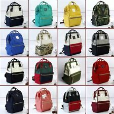 Japan Anello Original Backpack Rucksack Unisex Canvas School Bag Bookbag Handbag