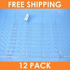 12 x CHROME PLATED DISH DRAINER Drying Rack Sink Drain Kitchen Holder Plate Tray