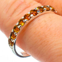 Citrine 925 Sterling Silver Ring Size 11 Ana Co Jewelry R29086F