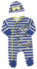 Babytown Baby Boys Racing Sleepsuit & Hat Set