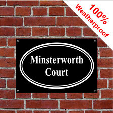 Custom Oval design house sign with name adress or other text 9151