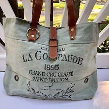 Myra Bag La Couspaude Up-cycled Canvas Tote Handbag