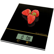 Kitchen Scale 0.04oz/11lbs Glass Surface Compact Digital Food Measuring Scale