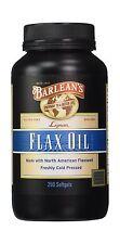 Barlean's Organic Oils Lignan Flax Oil 250 Count Free Shipping